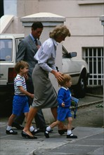 Prince Charles, princesse Diana, prince William et prince Harry