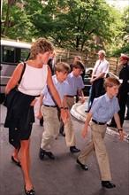 Princesse Diana avec les deux princes à Royal Tournament