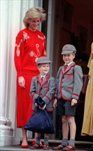 Princesse Diana, prince William et prince Harry