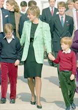 Princesse Diana et les deux princes.