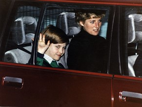 Prince William et princesse Diana