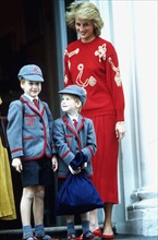 Prince William, prince Harry et princesse Diana
