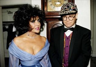 Elizabeth Taylor et Elton John