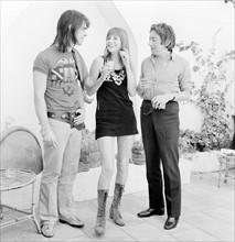 Jane Birkin, Serge Gainsbourg et Oliver Tobias