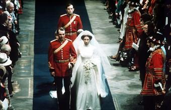Mariage de la princesse Anne et du capitaine Mark Philips