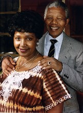 Nelson Mandela avec sa femme Winnie