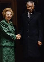 Nelson Mandela avec Margaret Thatcher