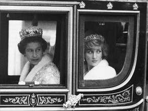 La reine Elisabeth II et la princesse Diana
