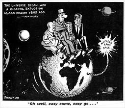 Caricature sur l'arme atomique