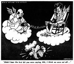 Caricature sur les relations entre les USA et l'URSS