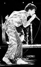 Mick Jagger sur scène à Los Angeles