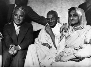 Mahatma Gandhi et Charles Chaplin, 1931