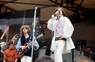 Mick Jagger en concert à Hyde Park à Londres