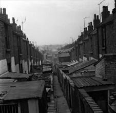 Bidonvilles dans la Grande-Bretagne de l'après-guerre. Vers 1960