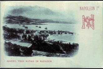 Napoléon 1er. Vue générale de la baie d'Ajaccio