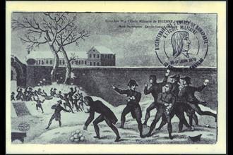 Brienne. Napoléon 1er à l'école militaire de Brienne.