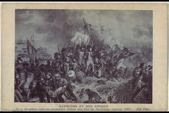 Napoléon fait ses premières armes aux îles de Sardaigne. Janvier 1793