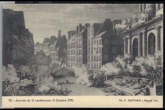 Journée du 13 Vendémiaire. 5 octobre 1795