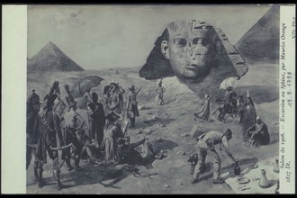 Le Sphinx de Gizeh pendant la Campagne d'Egypte