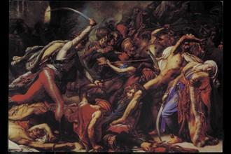 Bataille lors de la Campagne d'Egypte.