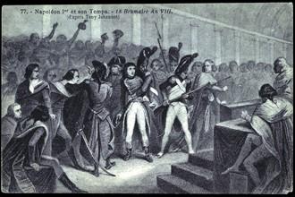 Napoléon Bonaparte.  Coup d'Etat du 18 brumaire an VIII.