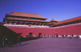 Le Palais Impérial, la Cité Interdite à Beijing/Pékin, la Porte Méridienne