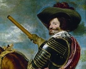 Vélasquez, Portrait équestre de Gaspar de Guzman, comte-duc d'Olivares (détail)