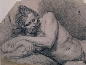 Vélasquez, Dessin d'un homme allongé