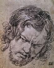 Vélasquez, Dessin d'un visage d'homme