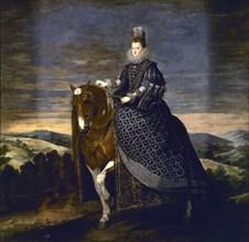 Vélasquez, Portrait équestre de la reine Marguerite d'Autriche