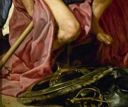 Vélasquez, Le Dieu Mars (détail)