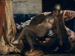 Delacroix, Femme caressant un perroquet