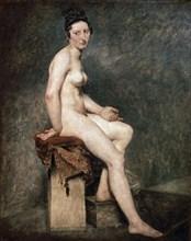 Delacroix, Nu assis. Mademoiselle Rose modèle de l'atelier de Guérin.
