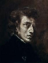 Delacroix, Portrait de Frédéric Chopin