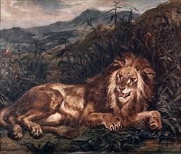 Delacroix, Un lion à la source