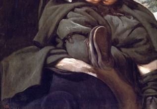 """Vélasquez, Portrait de Francisco Lezcano, dit le """"nain de Vallecas"""" (détail)"""