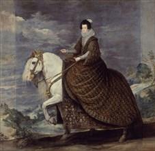Vélasquez (et atelier de), Portrait équestre de la Reine Isabelle de Bourbon