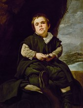 """Vélasquez, Portrait de Francisco Lezcano, dit le """"nain de Vallecas"""""""
