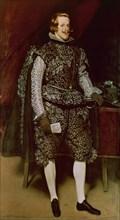 Vélasquez, Philippe IV vêtu de marron et d'argent