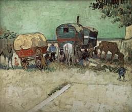 Van Gogh, Les roulottes : campement de bohémiens aux environs d'Arles