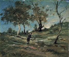 Sisley, Paysage et vieux paysan
