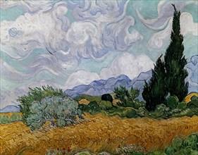 Van Gogh, Champ de blé et cyprès