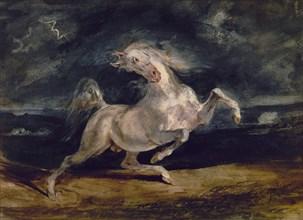 Delacroix, Cheval effrayé par l'orage