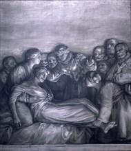 Goya, La Charité de Reine Sainte Isabel