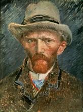 Van Gogh, Autoportrait au chapeau de feutre gris