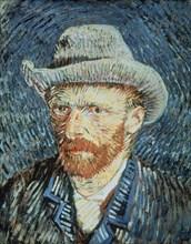 Van Gogh, Auto-portrait au chapeau de feutre gris