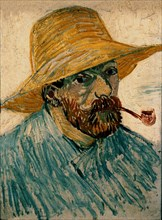 Van Gogh, Autoportrait au chapeau de paille et à la pipe
