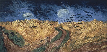 Van Gogh, Champ de blé aux corbeaux