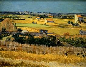 Van Gogh, La Plaine de la Crau, vue de Montmajour