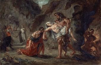 Delacroix, Hercule ramène Alceste du fond des enfers